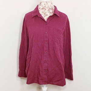 Old Navy Red Blue Checkered Button Down Classic